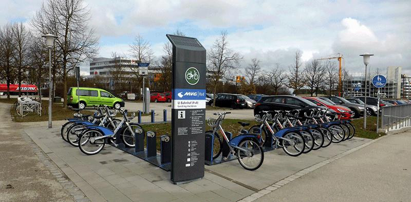 Fahrradverleihsystem Garching-Hochbrück